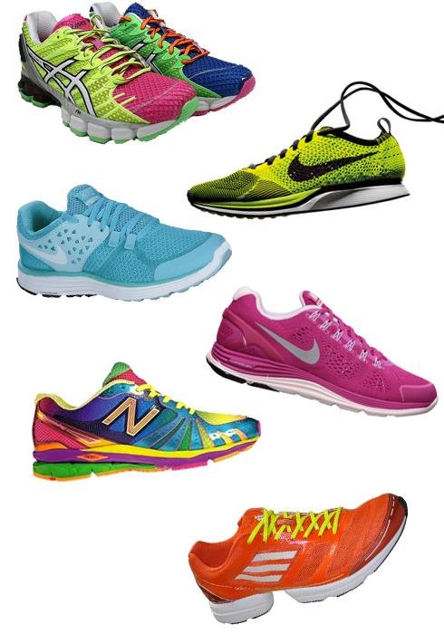 6434eb386f Eu tenho esse tênis rosa da foto e é meu xodó. Mas estou de olho nesse  Asics Multicolorido(lindo!) e apaixonada pelo Nike verde-limão (modelo  Flyknit Racer) ...